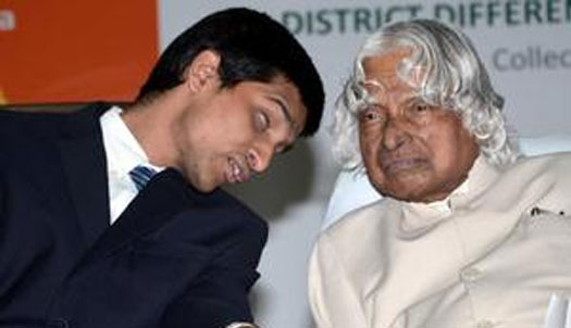 blind ceo with apj abdul kalam