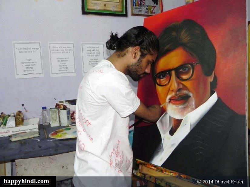 """नसीब उनके भी होते है, जिनके हाथ नहीं होते – Story of Dhaval Khatri, """"An Artist Without Hands"""""""
