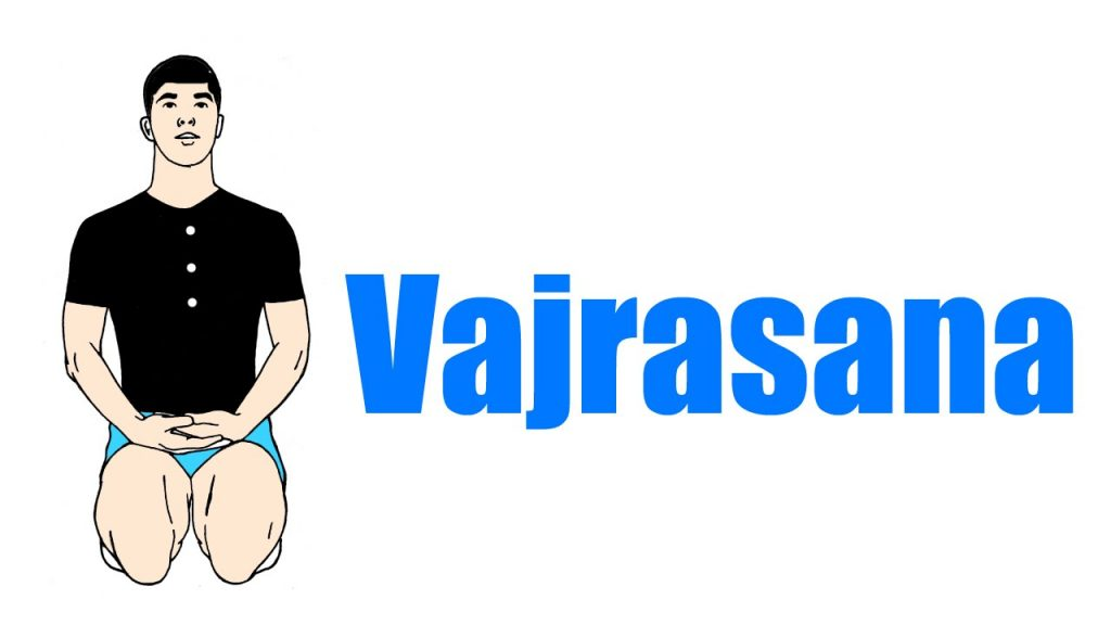 vajrasana pose hindi