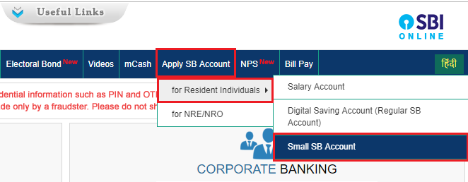 SBI Application Form