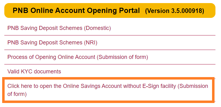 PNB Online Account Open Kare