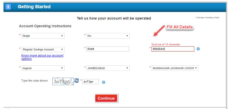 HDFC Online Form