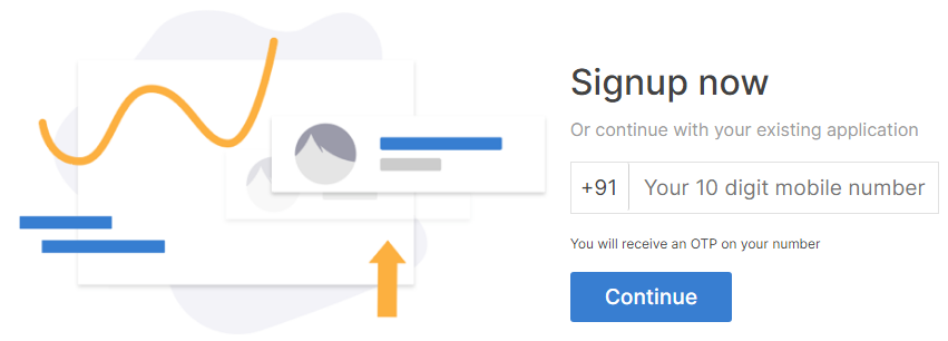 Signup in Zerodha