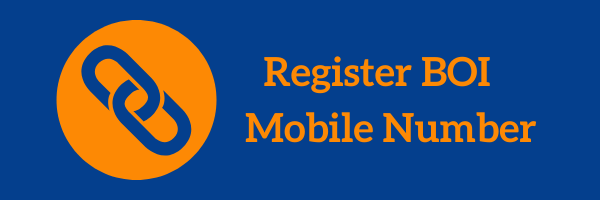 BOI Register Mobile Number