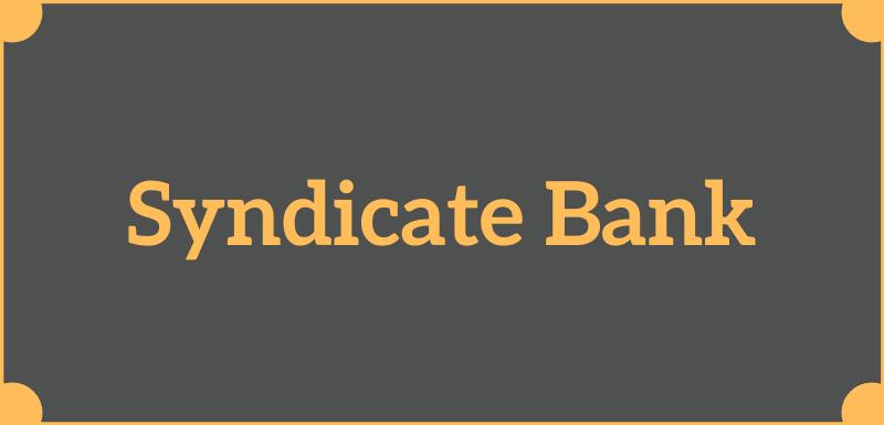 Syndicate Bank Balance Check