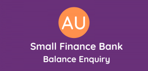 Au Small Bank Balance Enquiry