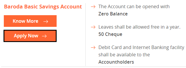 Baroda Basic Saving Account