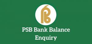 PSB Bank Balance Enquiry