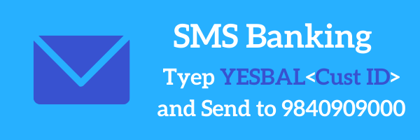 Yes Bank Balance Check By SMS