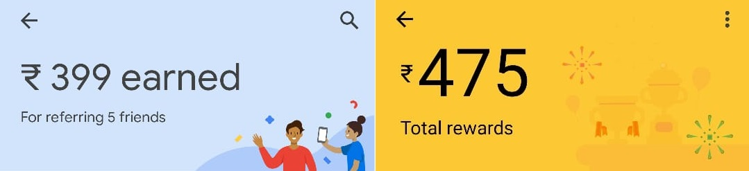 Google Pay Earning Form Referring