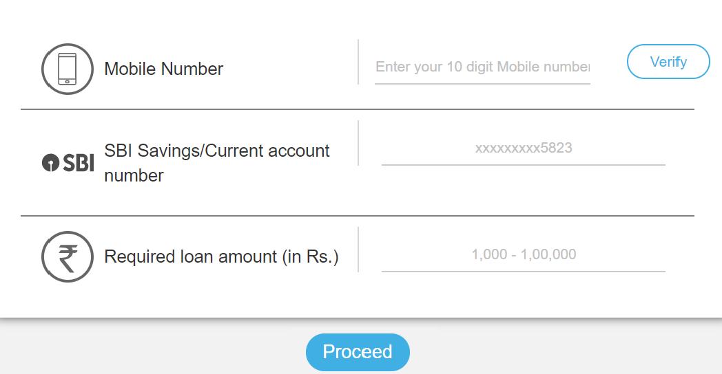 SBI e Mudra Loan Application Form