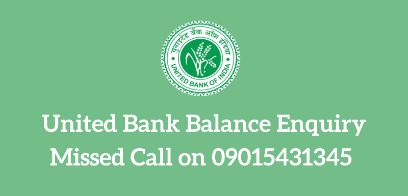 United Bank Balance Enquiry Number