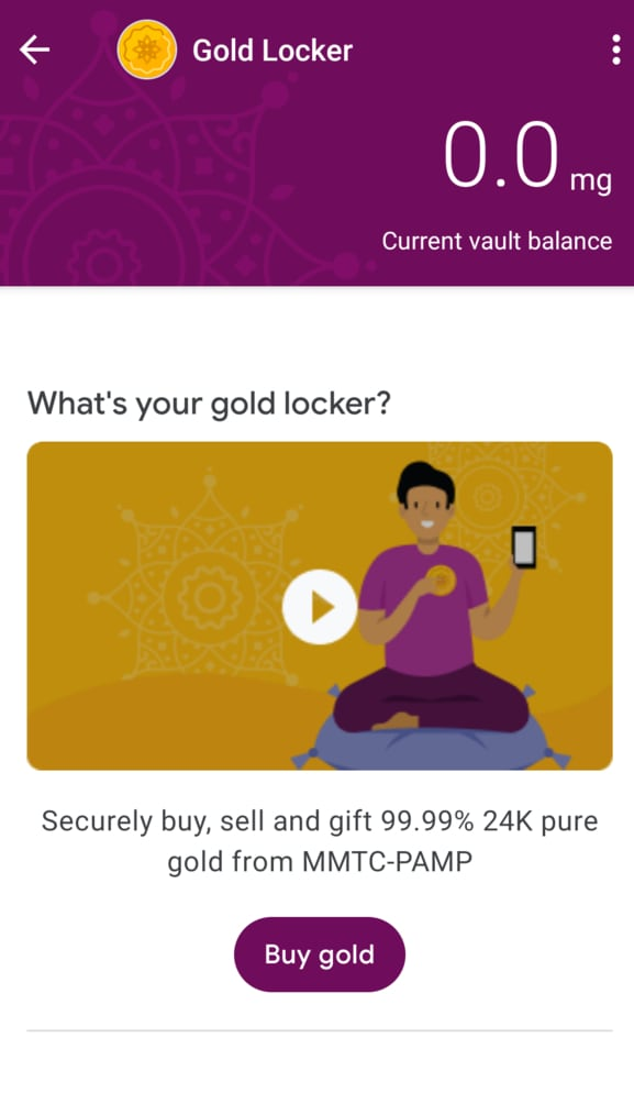 Google Pay Gold Locker