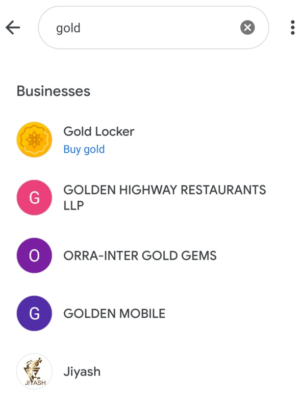 Search Gold In Google Pay