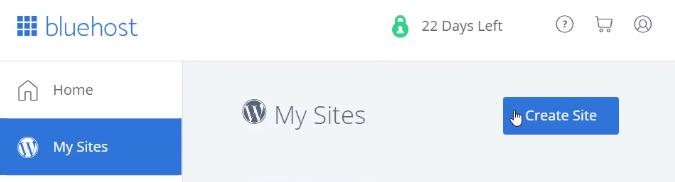 Click on Create Site