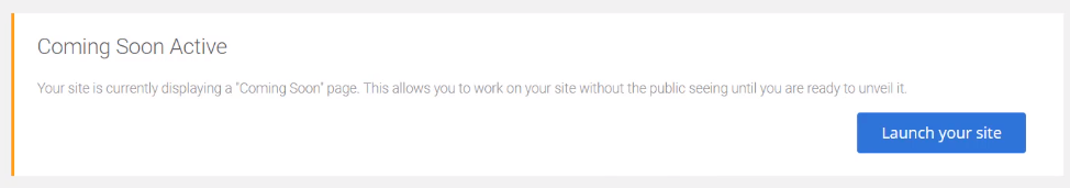Launch your site