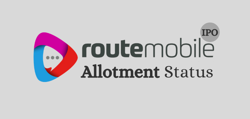 Route Mobile IPO Allotment Status