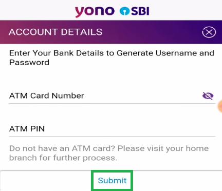 Enter SBI ATM Details