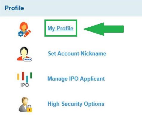 SBI My Profile