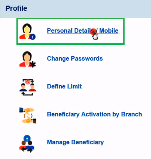 Update SBI Mobile Number By Net Banking