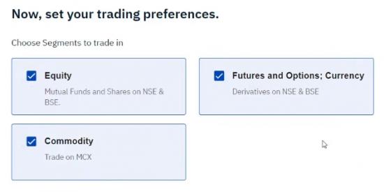 Upstox Trading Preference