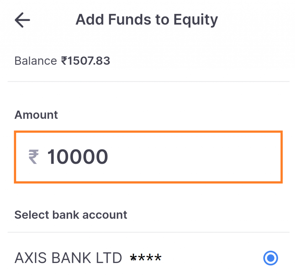 Add Funds In Kite