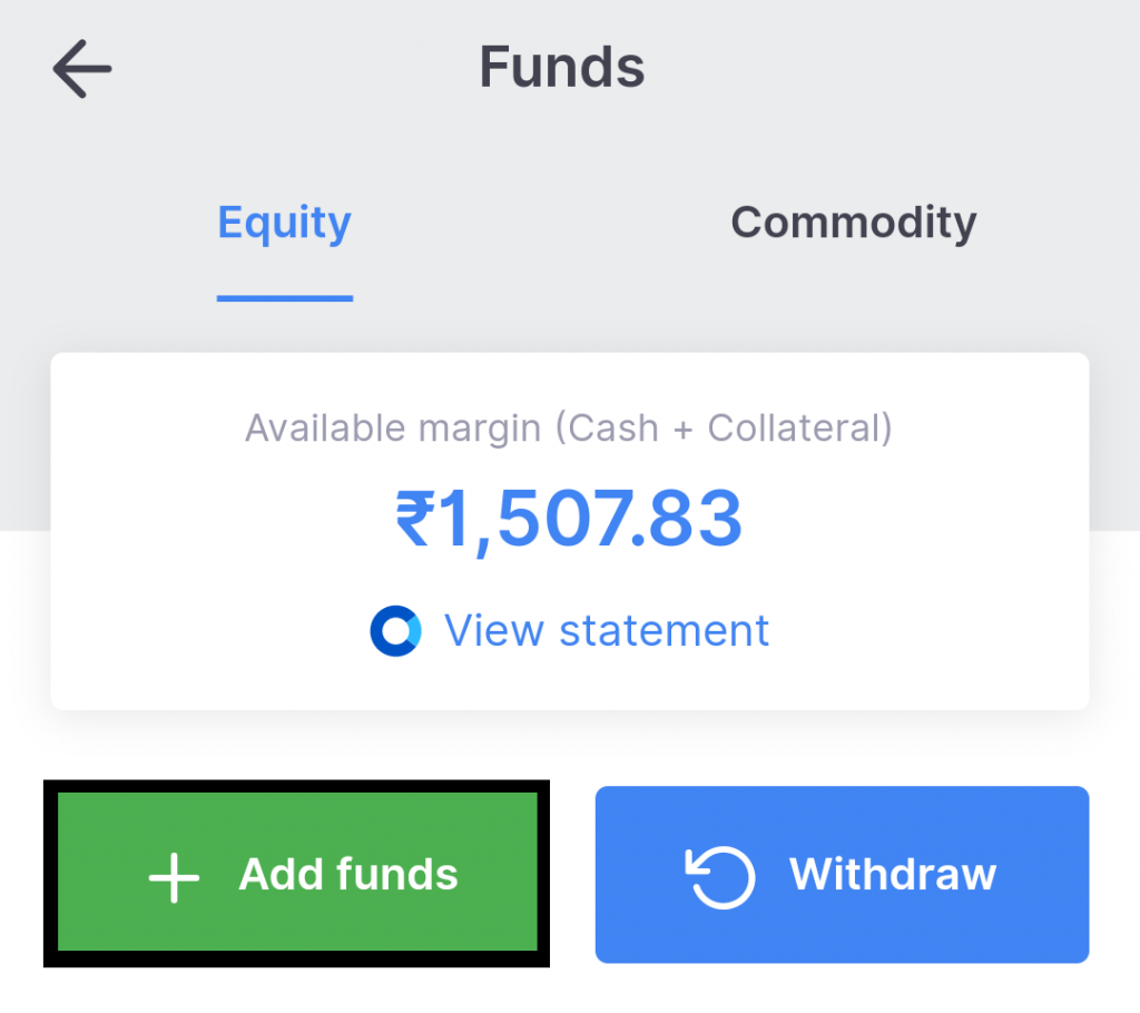 Add Funds In Kite App
