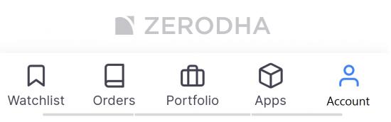 Zerodha Account (Menu)