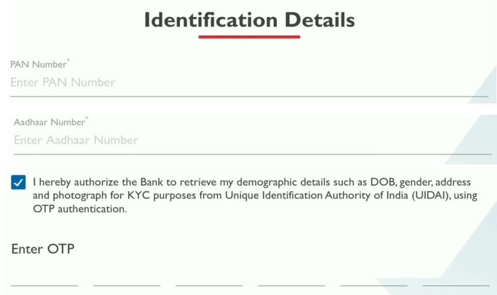 यस बैंक में डिजिटल अकाउंट कैसे खोले - स्टेप 6
